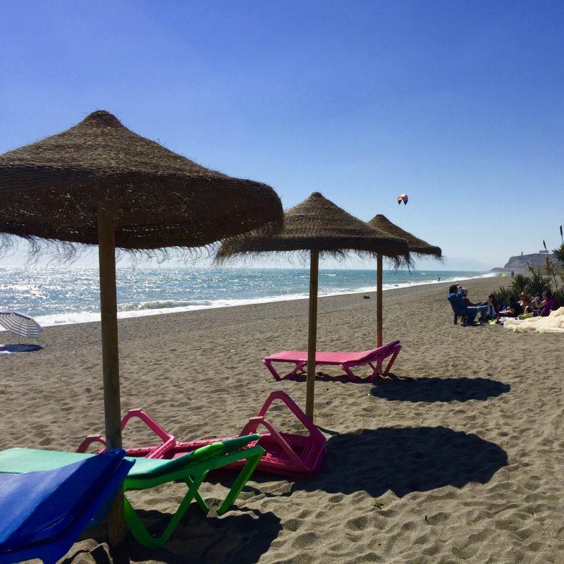 Strand bij Malaga