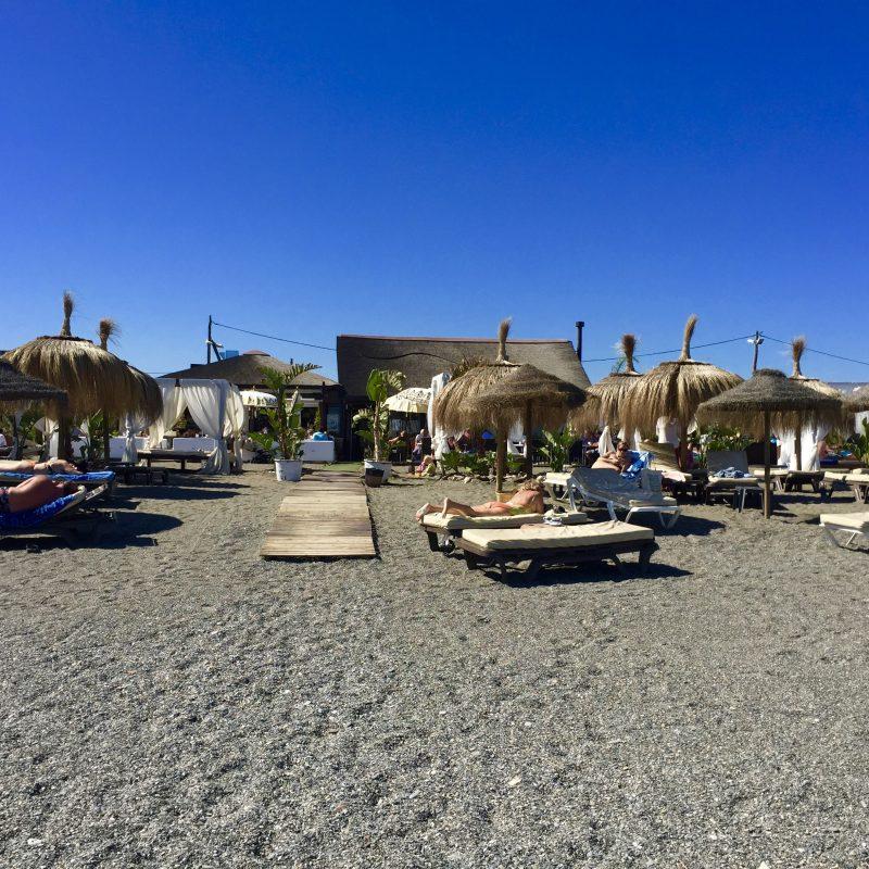 Strandtent bij Torre del Mar; Tanit