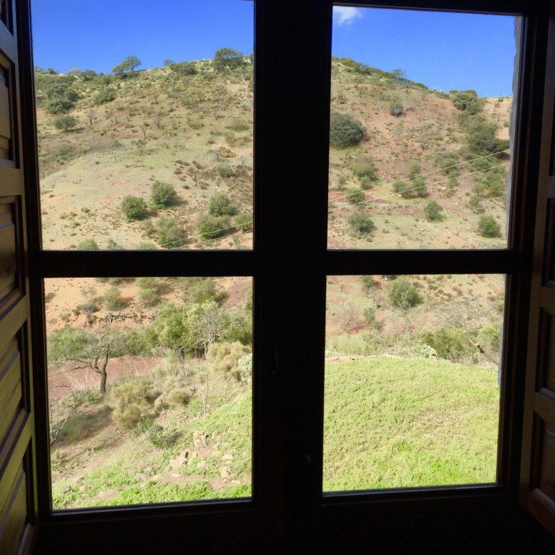 Fantastisch uitzicht vanuit het raam boven aan de achterkant