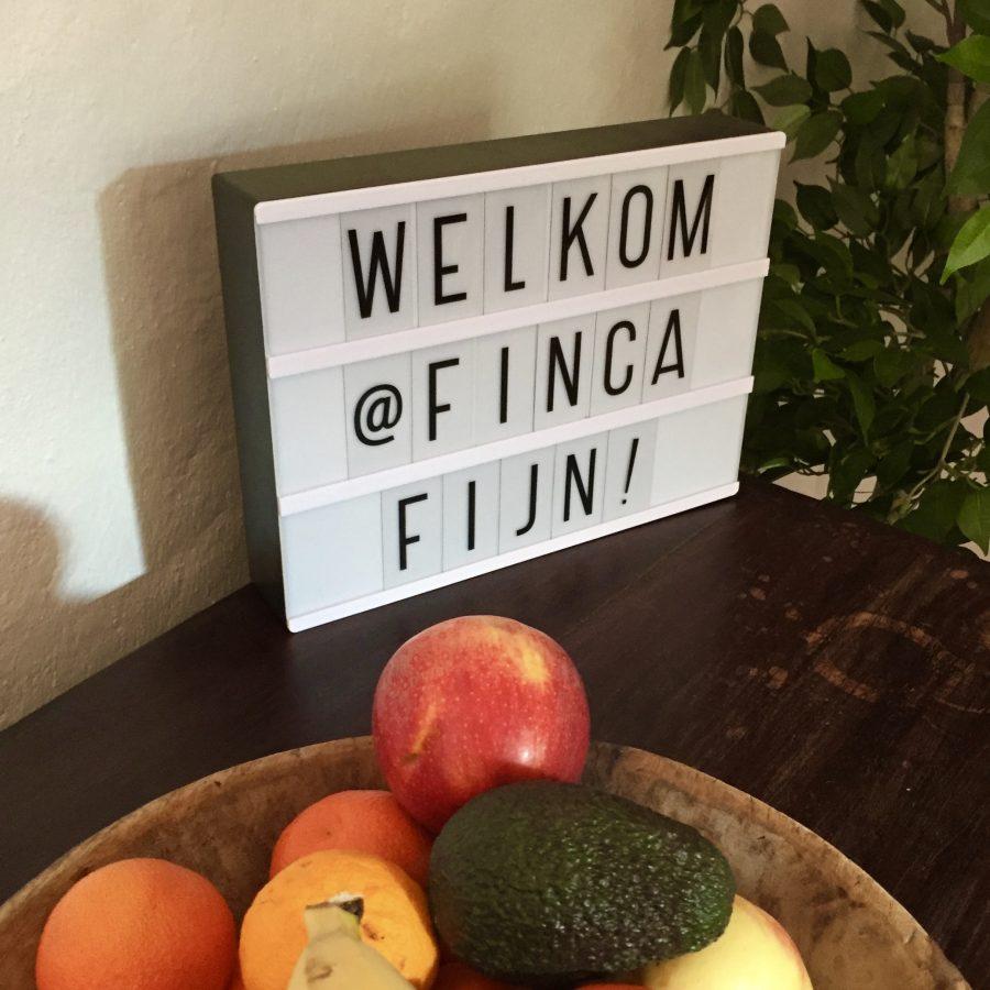 Welkom bij Finca Fijn!