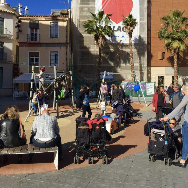 Speeltuin in Malaga, een van de vele in Spanje!