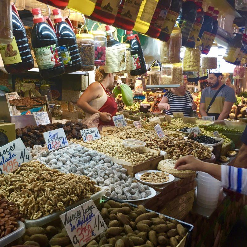 Markt in Malaga (Camper huren Andalusië)