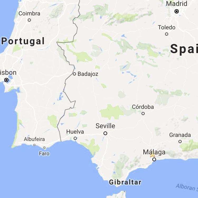 Finace Fijn!, vlak boven Malaga in Andalusië