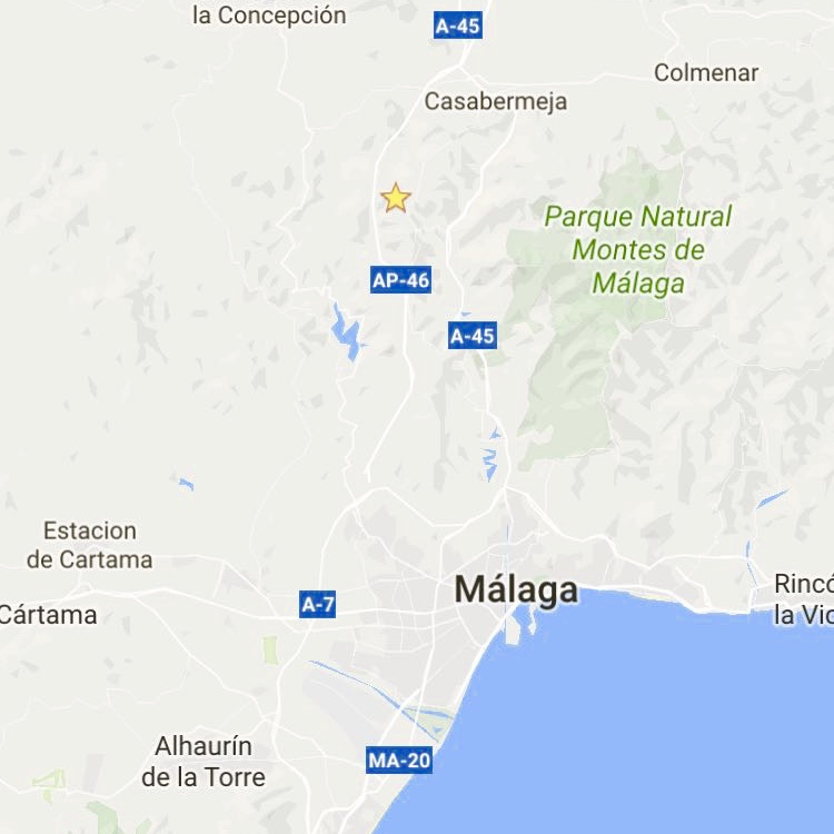Gelegen tussen Malaga en Casabermeja